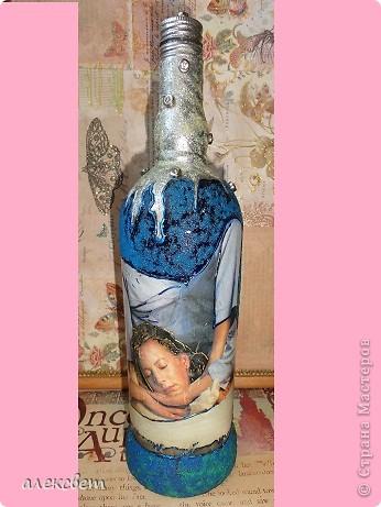 Использовала: картинка из журнала. цветной песок, блёстки, бусины и  лак.  фото 5