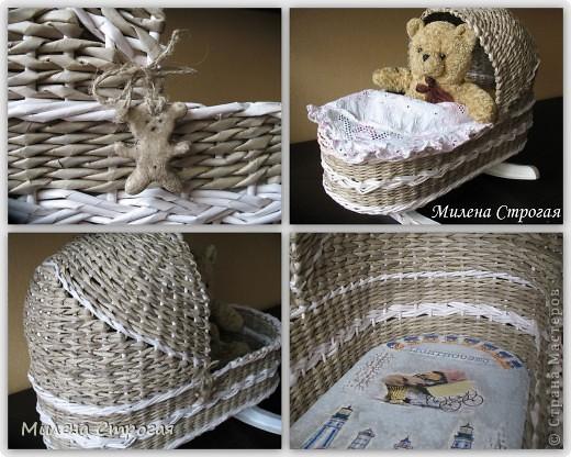 Самая необходимая вещь в доме, где есть маленькая девочка - кроватка для кукол!!! Описаний колясок в интернете море, добавлю свое. Может кому пригодится... фото 15