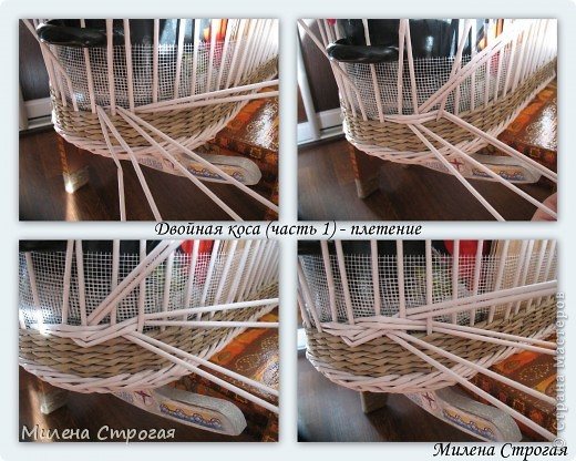 Плетение из газетных трубочек схемы плетения узоров
