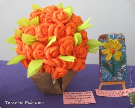 """С приходом весны, СТРАНА!!! Предлагаю вашему вниманию фоторепортаж с выставки в нашей школе. Мы её назвали """"Цветочная феерия"""", и это справедливо, ведь скоро Женский день))) фото 12"""