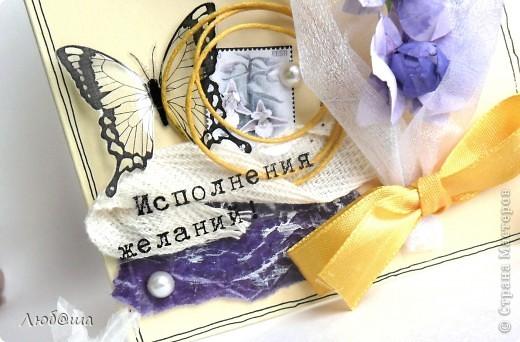 Всем приветы! Это открытка для мамы. Орхидеи - это ее любимые цветы) Не найдя подходящего МК придумала сама) фото 2