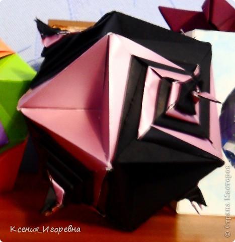 Спиральная кусудама Томако Фусе в моей вариации фото 1