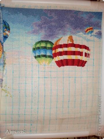 Картина панно рисунок Вышивка крестом Парад шаров Dimensions-процесс отшива Канва фото 5.