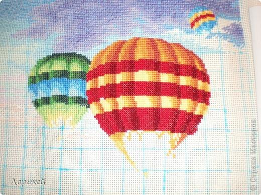 Картина панно рисунок Вышивка крестом Парад шаров Dimensions-процесс отшива Канва фото 6.