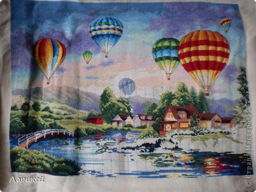 Картина панно рисунок Вышивка крестом Парад шаров Dimensions-процесс отшива Канва фото 8.