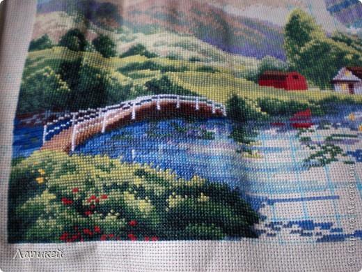 Картина панно рисунок Вышивка крестом Парад шаров Dimensions-процесс отшива Канва фото 10.