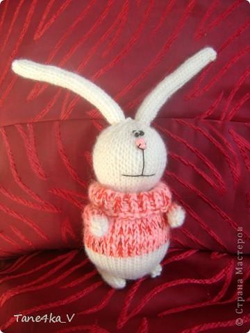 Вязаный заяц Пряжа фото 3