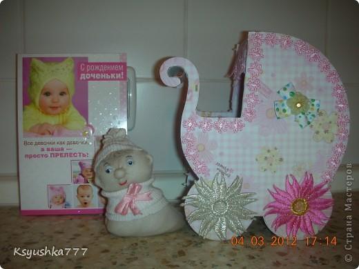 Большое спасибо es-denol за идею. Сделала этот подарок сестренке, у которой родилась доченька. Принесла в роддом - девчонки из других палат ходят смотреть. фото 1