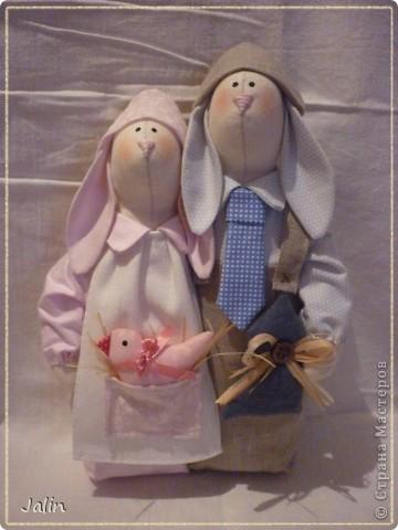 Вот таких неразлучников я сшила в подарок на свадьбу для подруги ) Результатом довольна ) фото 2