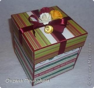 """Увлеклась изготовлением коробочек-шкатулочек из бобинок стотча. Это мой """"первенец"""" фото 4"""