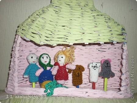 Игры пальчиковые Вязание крючком пальчиковые куклы Нитки фото 1.