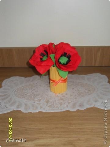 Такие небольшие букетики цветов я сделала на 8 марта. фото 3