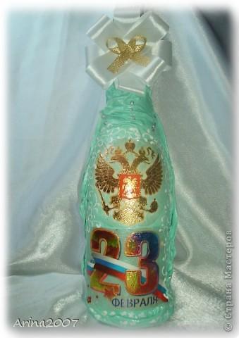 Здравствуйте всем!!! Приближается 8 марта и многие мои друзья попросили оформить на подарки шампанское.Сначала я конечно обрадовалась! Но сейчас, после 6 бутылок подряд в глазах уже рябит)))А мне еще 8 бутылок за 4 дня надо сделать!!!  фото 7