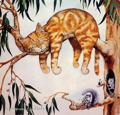Здравствуйте всем заглянувшим. Снова у меня слепился котик, почему то кошачья тема никак не оставляет меня. Картинка довольно таки большая 30X40. Роспись не очень удалась (навазюкала чего то). Эх хоть чуточку бы художественного образования (или таланта). фото 6