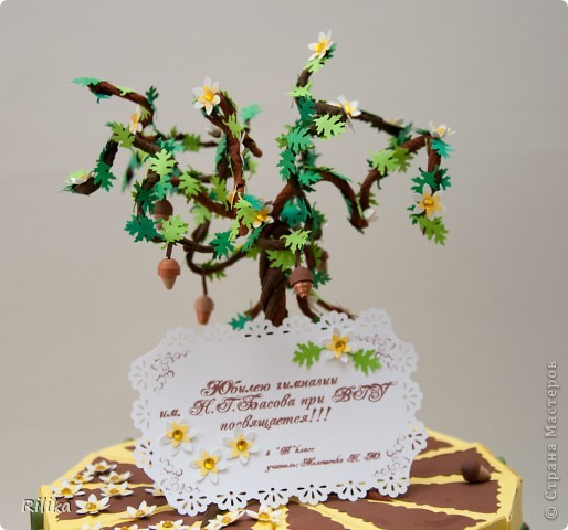 Торт к юбилею гимназии фото 3
