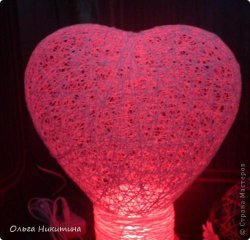 """светильник """"сердце"""" фото 2"""