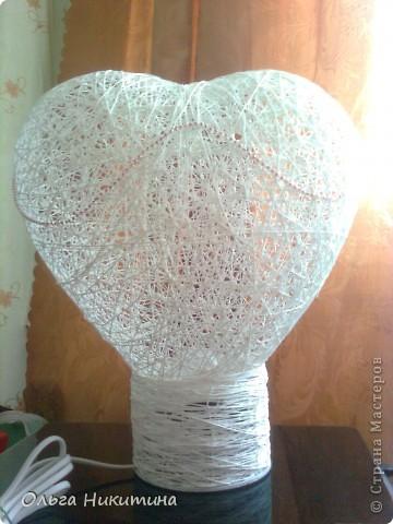 """светильник """"сердце"""" фото 1"""