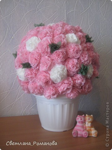 Цветочный шар из салфеток  фото 1
