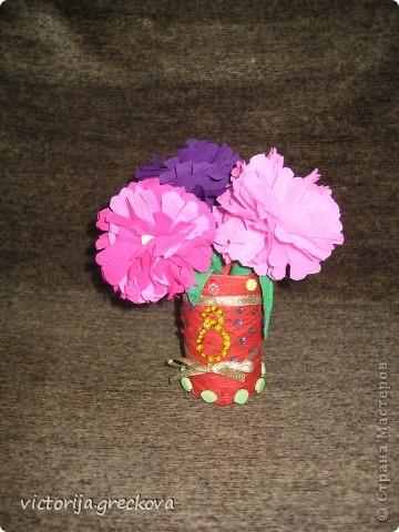 Вазочки с цветочками для бабушек к 8 марта!!! фото 4