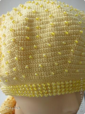 Название этому комплекту родилось сразу, как только в руках оказался бисер, а потом и нитки:) Лимонад! Нитки Лидия п/ш (1650м=100гр) в 4 сложения, крючок 1,75мм и на шарф 2мм фото 4