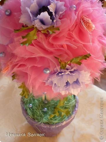 """Вот такое розовое """"облоко"""",получилось у меня из кусочка органзы и кустика васильков)))) фото 6"""