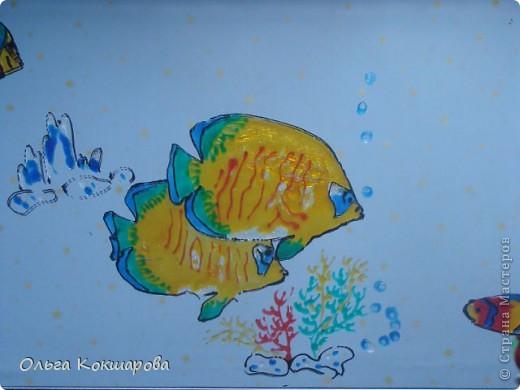 Рыбы. Витражные краски