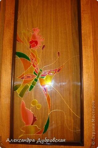 Витражная роспись для моей мамулечки фото 7