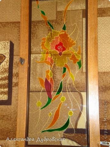 Витражная роспись для моей мамулечки фото 5