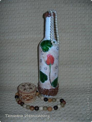 Оформление стеклянных бутылок фото 2