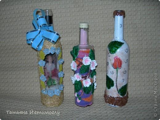 Оформление стеклянных бутылок фото 1