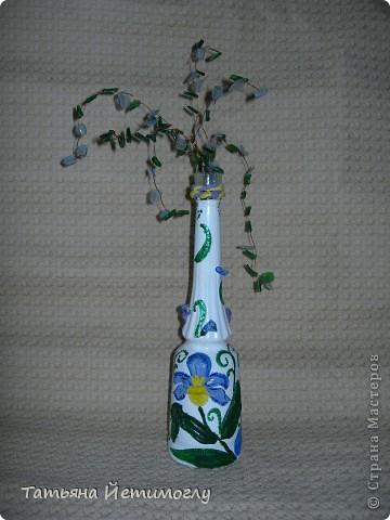 Оформление стеклянных бутылок фото 3