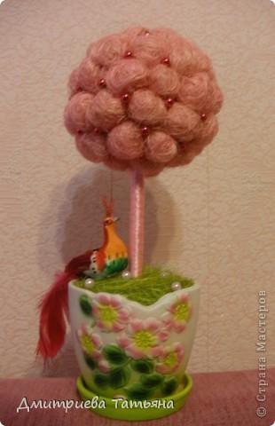 Наконец-то решилась сделать дерево из сизалевых шариков! Думала, будет сложно, а оказалось совсем даже нет!  фото 5