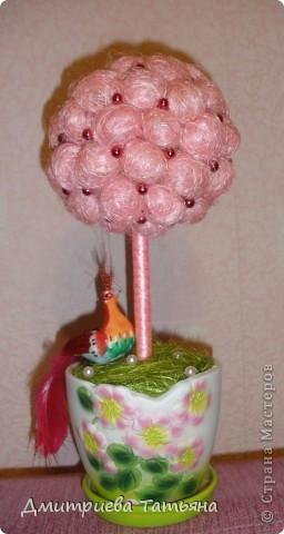 Наконец-то решилась сделать дерево из сизалевых шариков! Думала, будет сложно, а оказалось совсем даже нет!  фото 1