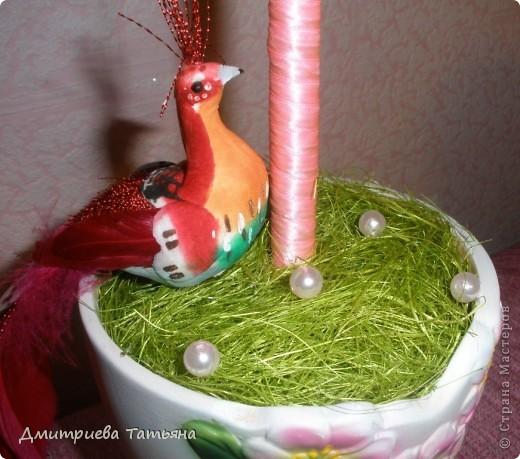 Наконец-то решилась сделать дерево из сизалевых шариков! Думала, будет сложно, а оказалось совсем даже нет!  фото 3