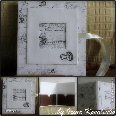 На днях сделала вот такую черно-белую коробочку для дисков. В среднее окошечко на обложке можно вставить фото... Мне так нравится их создавать...))   фото 1