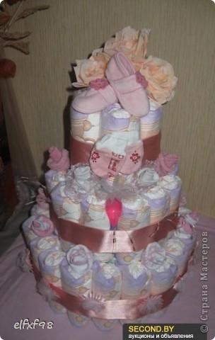 Торт из подгузников фото 3