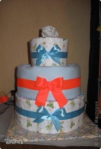 Торт из подгузников фото 6