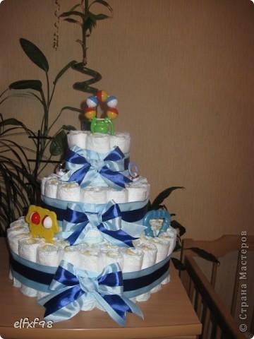 Торт из подгузников фото 10