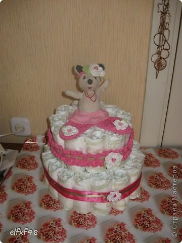 Торт из подгузников фото 7