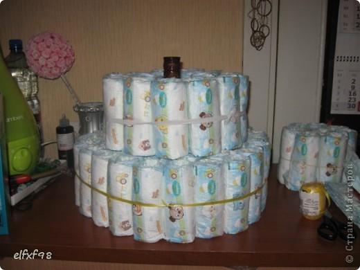 Торт из подгузников фото 15