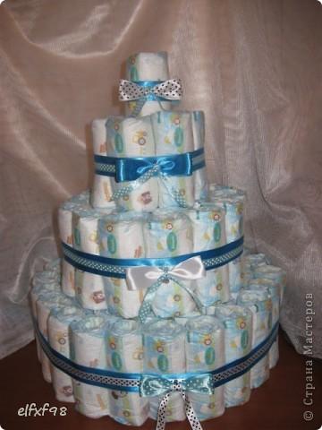 Торт из подгузников фото 8