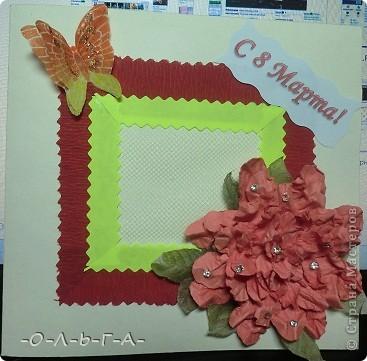 Здравствуйте! Несколько открыточек к 8 Марта! Делали с сыном быстро и с удовольствием :-)) фото 2