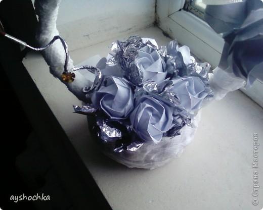 Вот такая корзиночка с розами...Надеюсь маме понравиться на 8 марта.....!!! Кстати, всех женщин, девушек, девочек с наступающим международным женским днем!!! фото 3