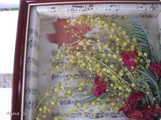 Вот такая картина у меня получилась из сухих цветов оставшихся после 8 марта. фото 13