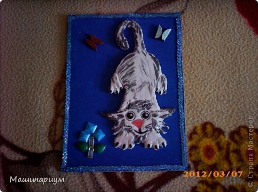 Мой котофейчик по рисунку Хелочки, выполнен в тес те))) фото 1