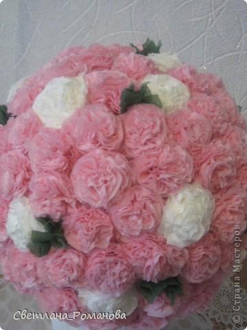 Цветочный шар из салфеток  фото 3