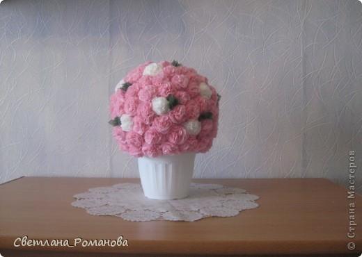 Цветочный шар из салфеток  фото 2