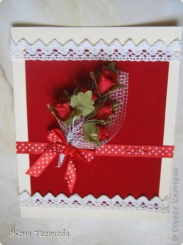 Дорогие мастерицы! Спасибо Вам за Ваши замечательные идеи! Благодаря им и у меня получились открыточки к празднику. фото 4
