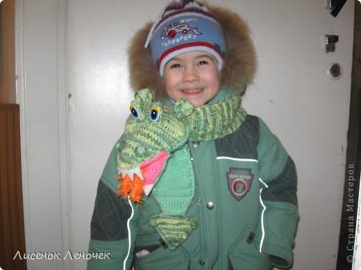 Этот шарфик я связала сыну в честь Нового Года Дракона, чтобы он приносил ему удачу во всех начинаниях, увлечениях фото 1