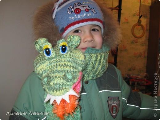 Этот шарфик я связала сыну в честь Нового Года Дракона, чтобы он приносил ему удачу во всех начинаниях, увлечениях фото 2